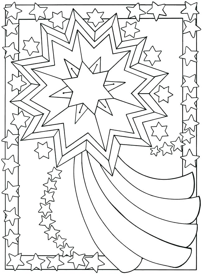 650x880 Star Coloring Pages Free Coloring Free Printable Shooting Stars
