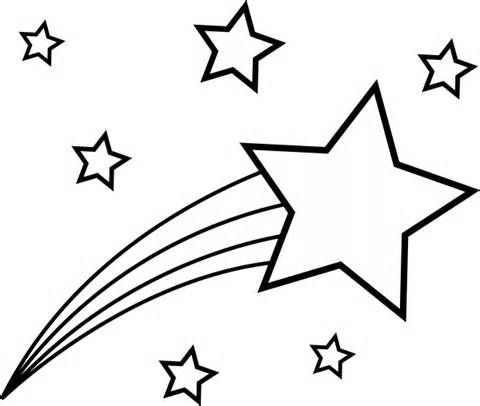 480x406 Stars Coloring Pages Shooting Stars Coloring Page Picture Coloring