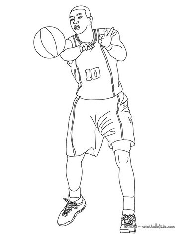 364x470 Basketball Jump Shot Coloring Pages