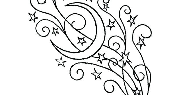 585x329 Stars Coloring Page