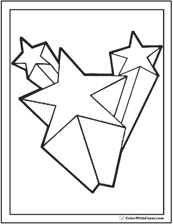 shooting star coloring pages for kids | Shooting Star Clipart at GetDrawings.com | Free for ...