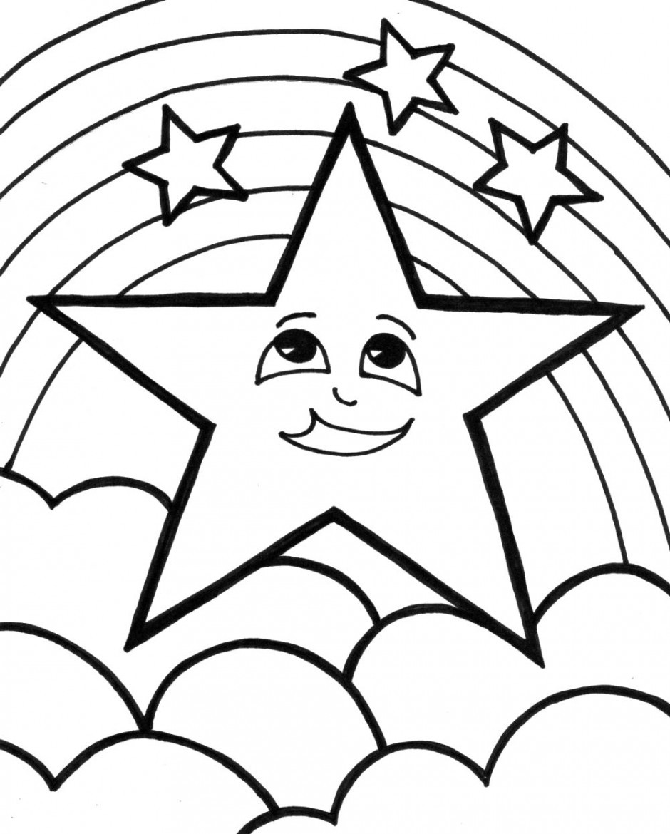 940x1170 Shooting Star Coloring Page Pages Stars New Colouring