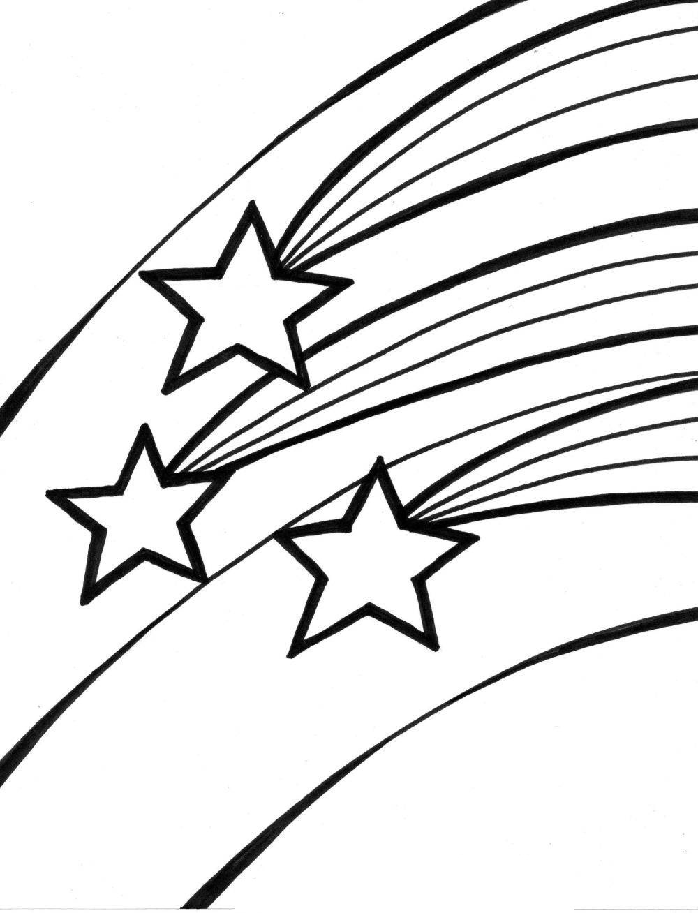 1000x1308 Shooting Star Coloring Pages For Kids