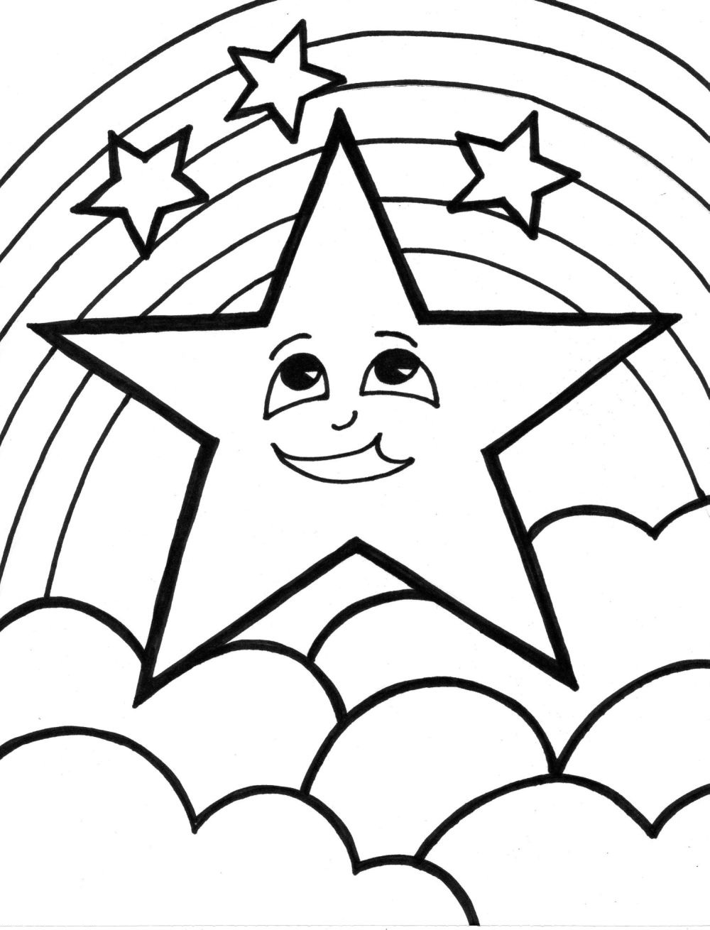 1000x1310 Shooting Star Coloring Pages