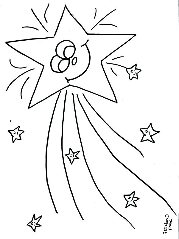 601x800 Shooting Star Coloring Page Coloring Collection