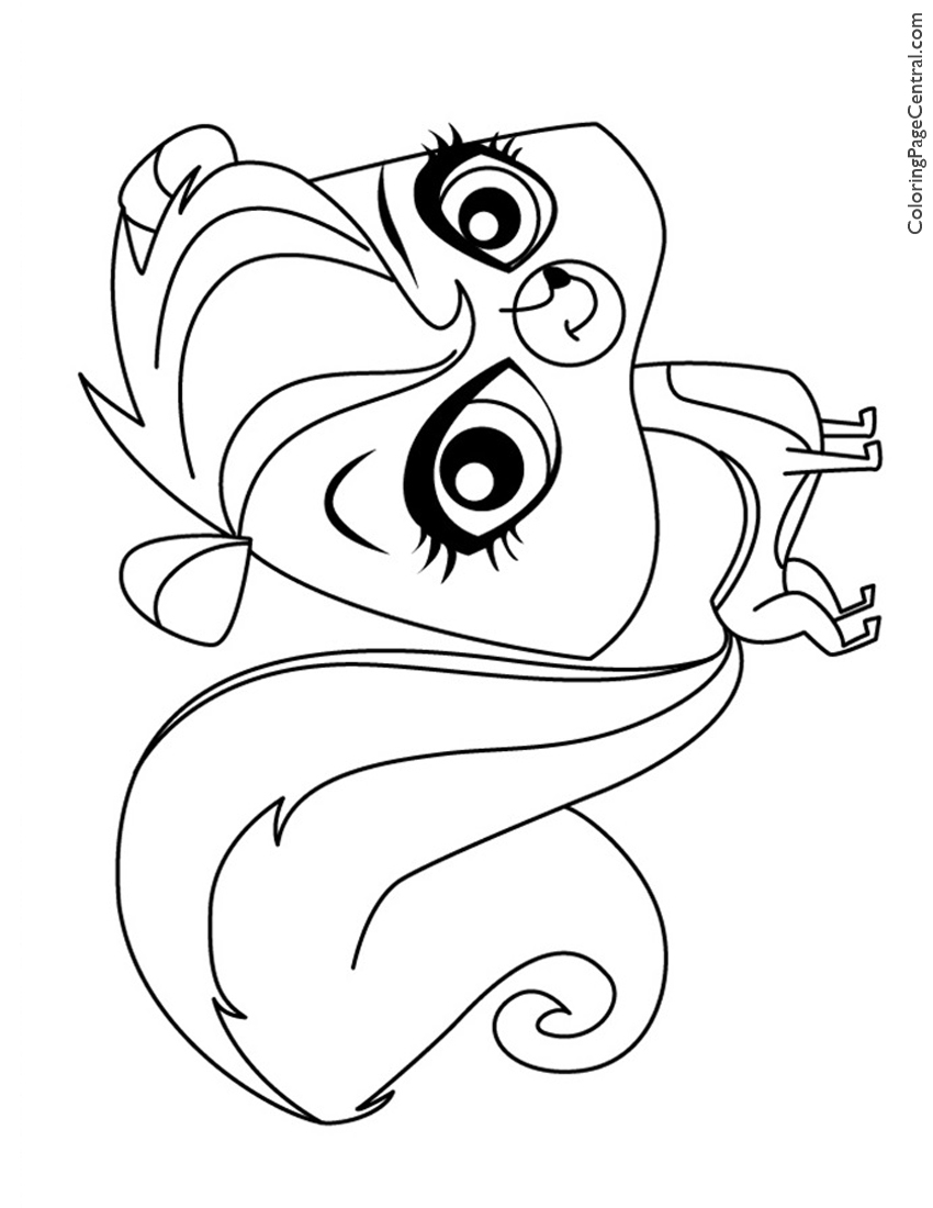 850x1100 Littlest Pet Shop Pepper Clark Coloring Page Coloring Page Central