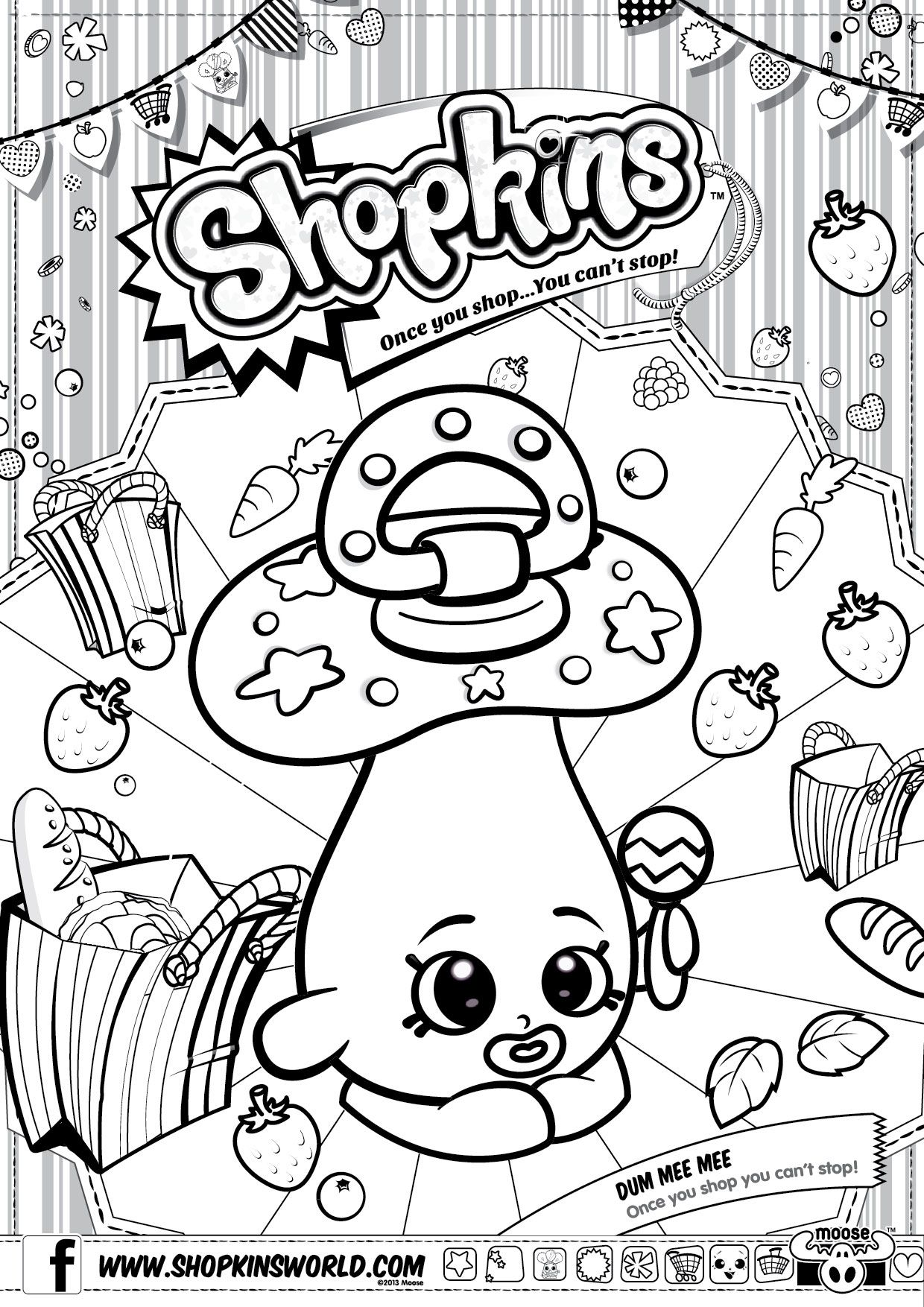 1240x1754 Informative Strawberry Kiss Coloring Page Shopkin Free Printable