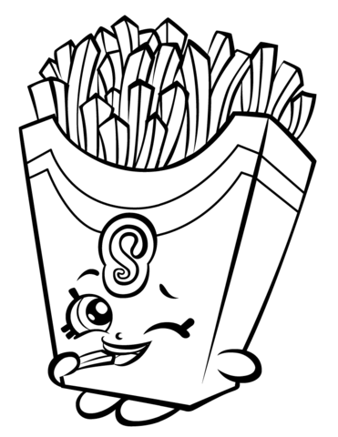 371x480 Fiona Fries Shopkin Coloring Page Coloring Pages For Kids