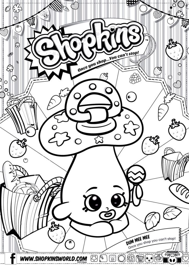 724x1024 Printable Coloring Pages Of Shopkins