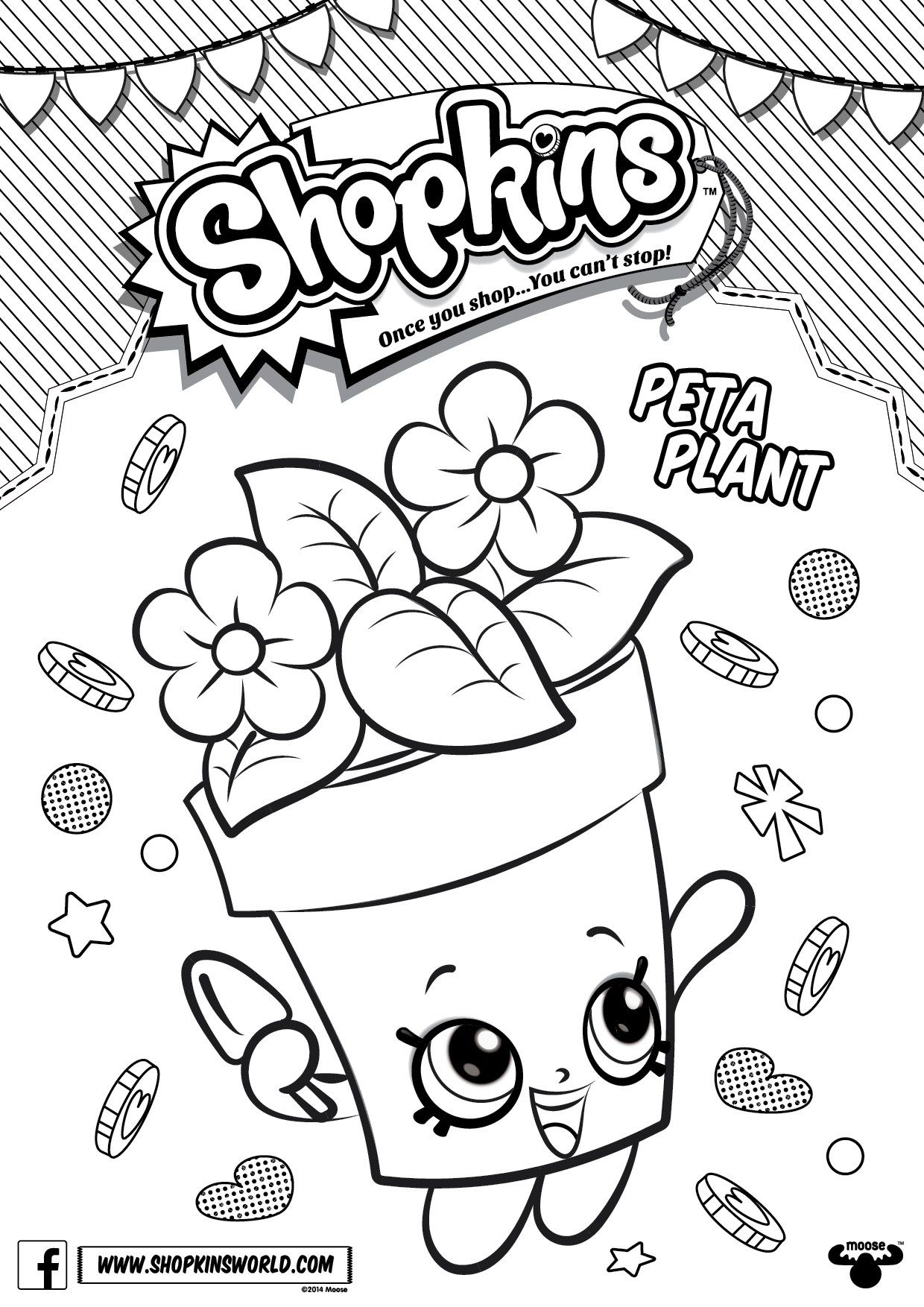 1240x1754 Shopkins Coloring Pages Season Peta Plant Printables