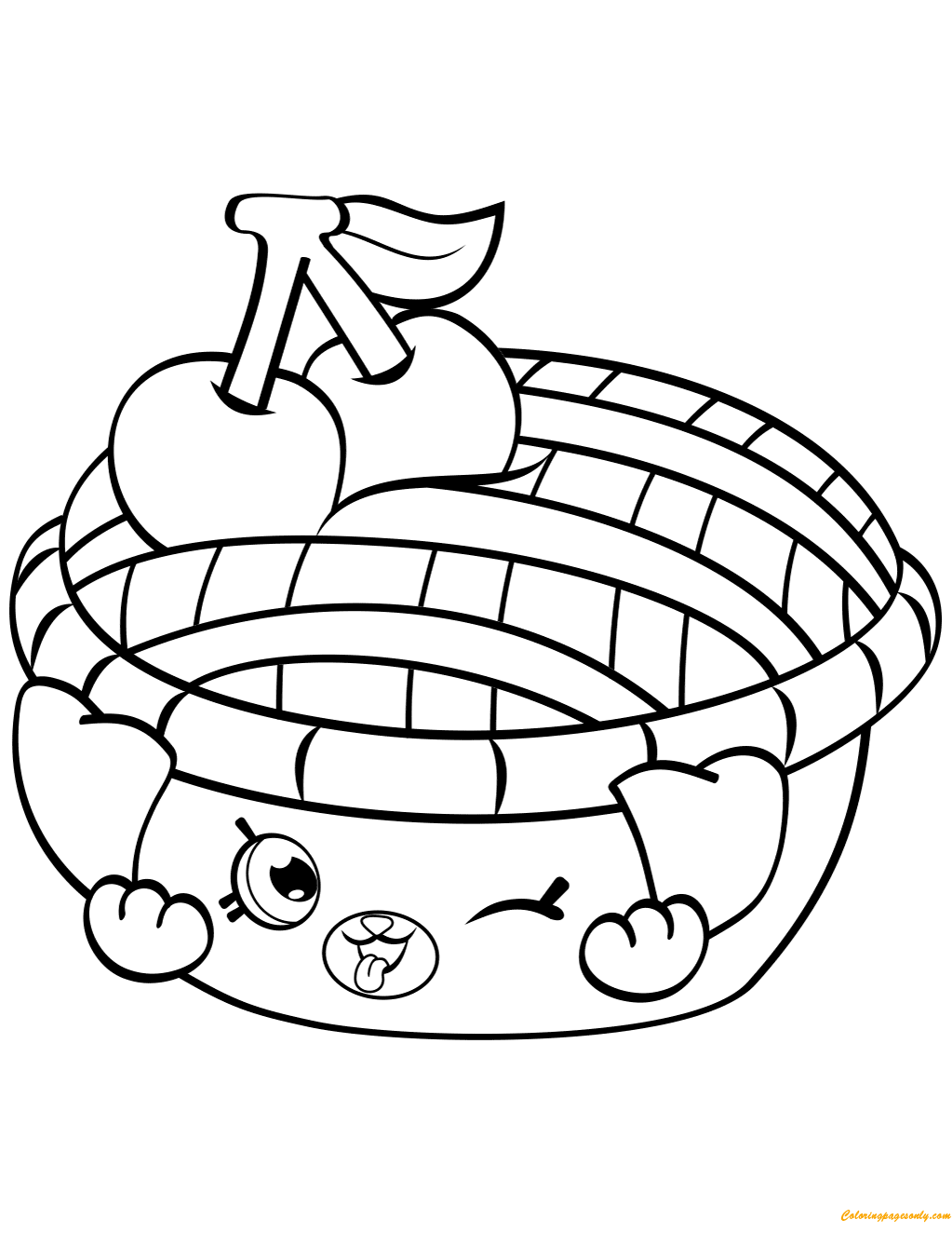 1023x1324 Shy Pie Shopkin From Season Coloring Page