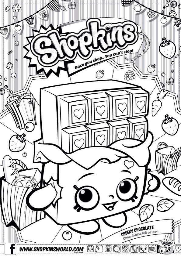 595x842 Shopkins Coloring Pages Printables