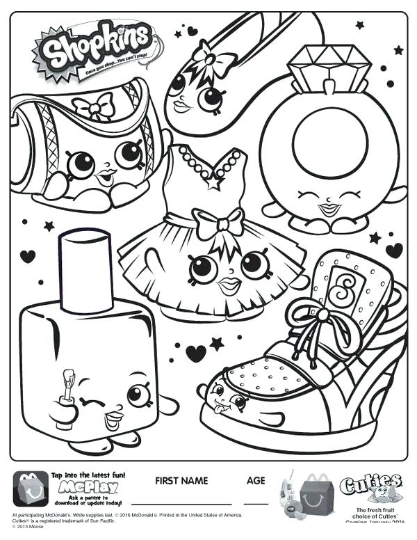 600x776 Shopkins Pictures To Color With Coloring Pages Free Shopkins
