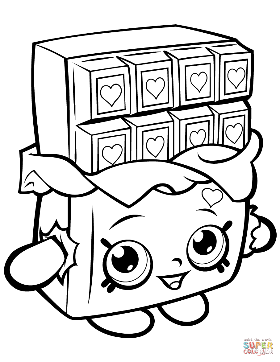 907x1174 Chocolate Cheeky Shopkin Coloring Page With Pictures To Print