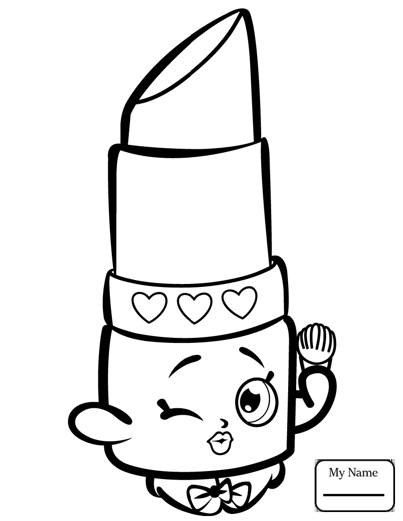 Shopkins Characters Coloring Pages