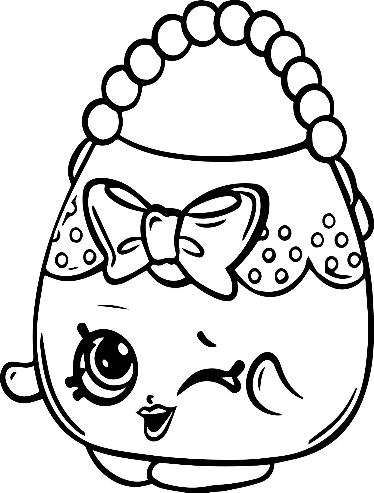 1241x1636 Shopkins Character Coloring Pages Free