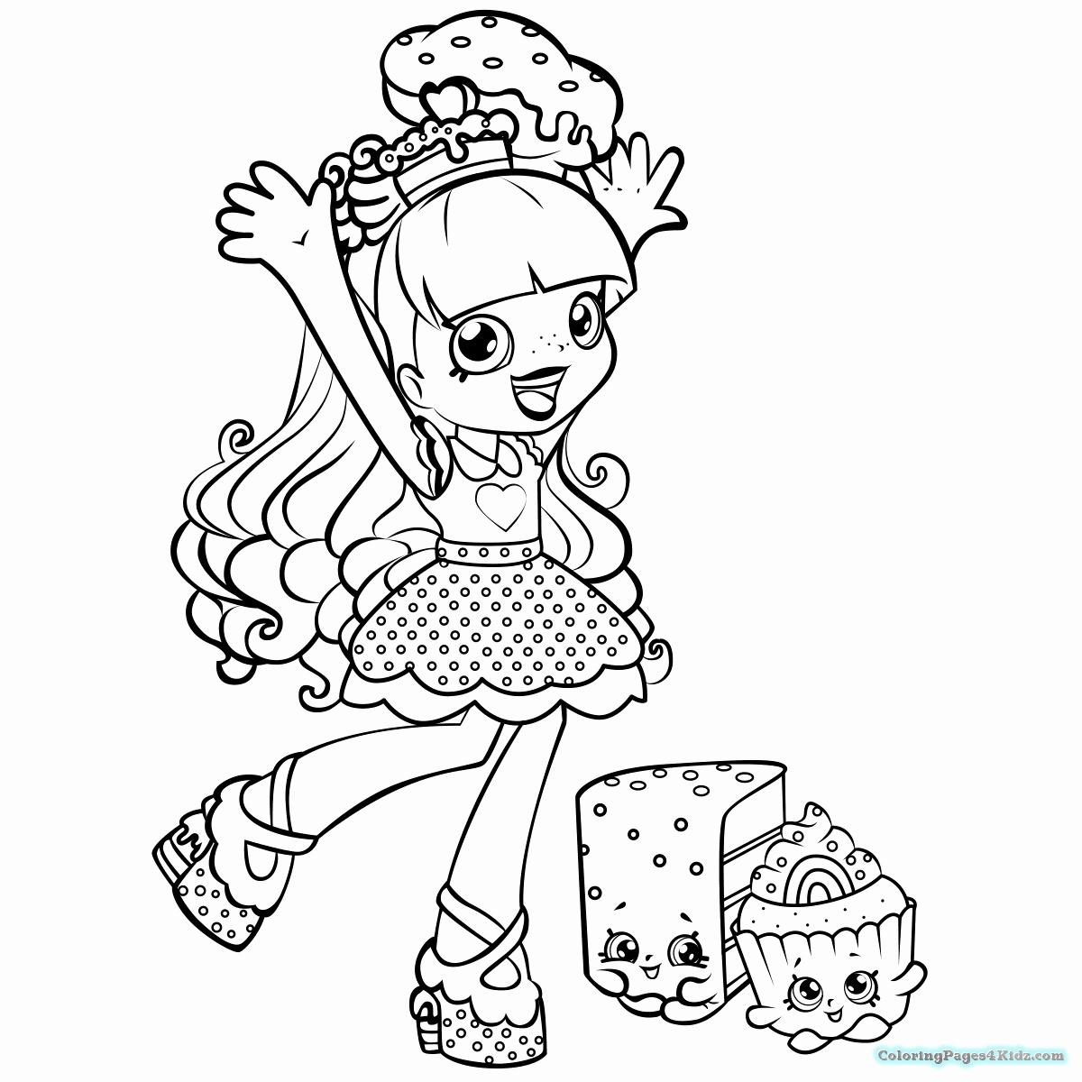 1200x1200 Shopkins Characters Coloring Pages Pictures Top Free Printable