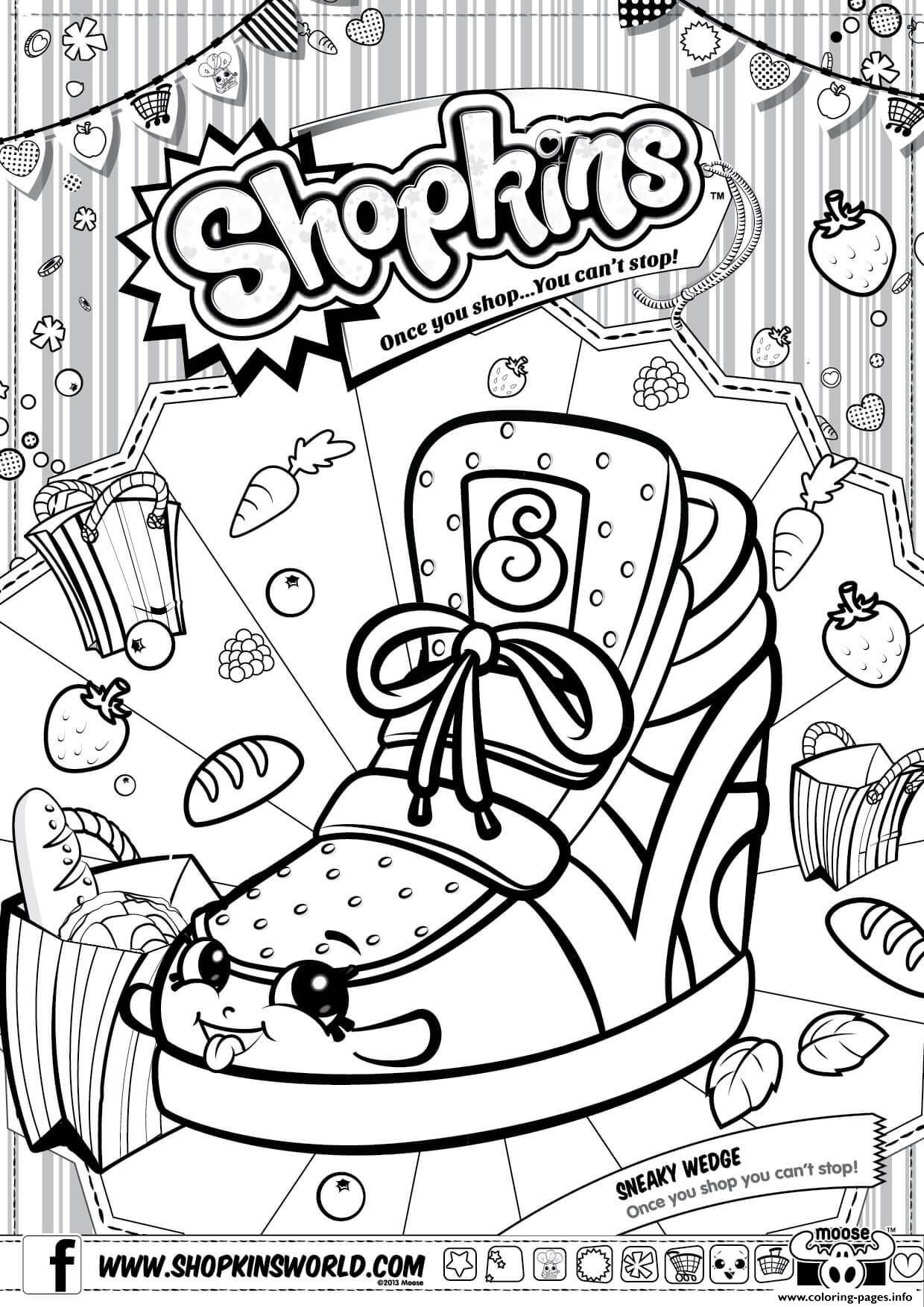 1240x1754 Shopkins Characters Coloring Pages Print Sneaky Wedge Landscape