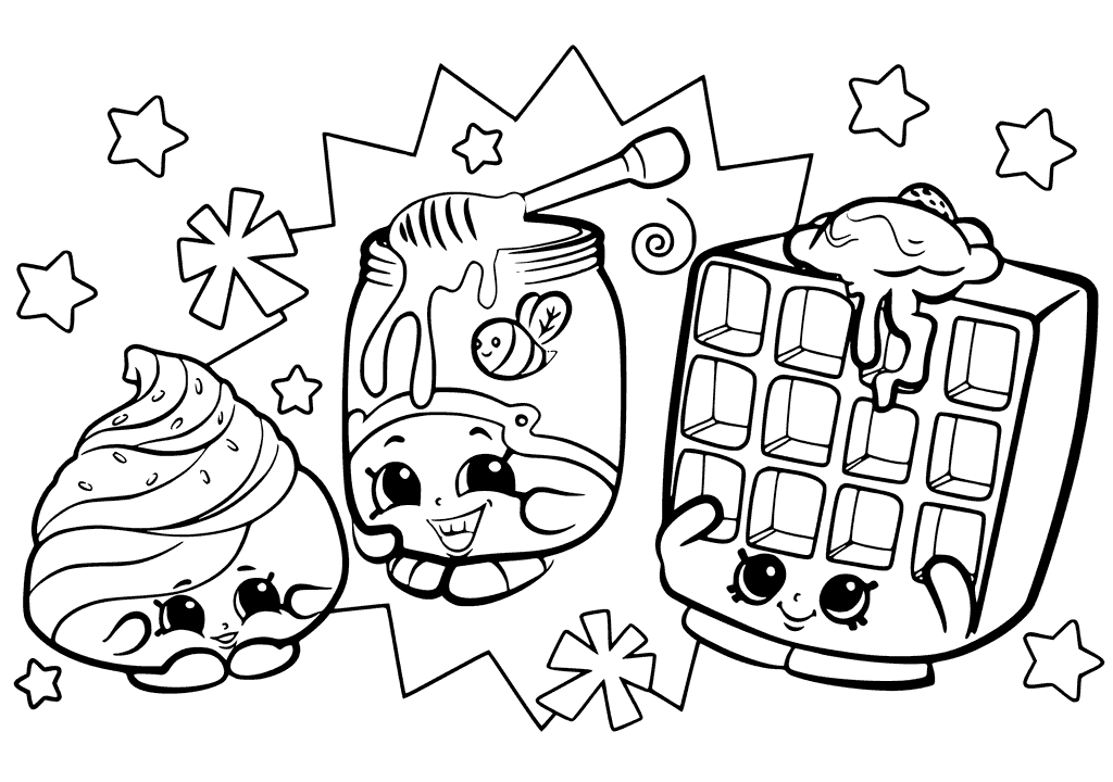 1024x720 Shopkins Characters Wobbles Coloring Pages