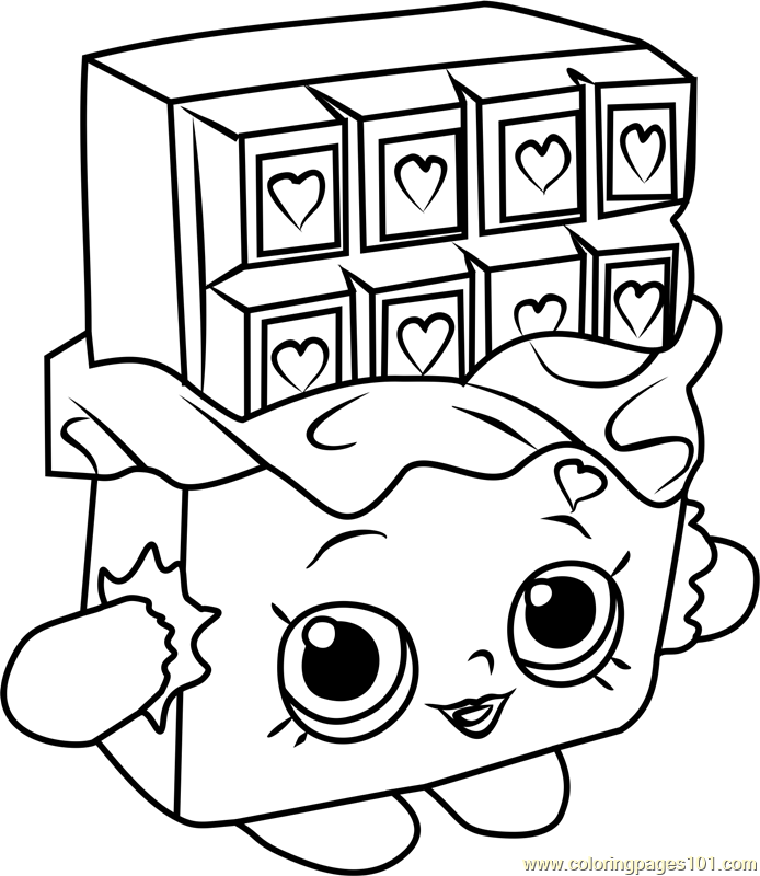 694x800 Cheeky Chocolate Shopkins Coloring Page