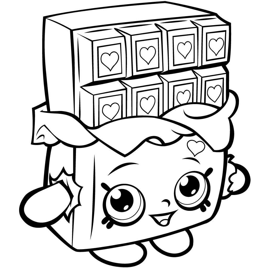 1024x1024 Shopkins Coloring Pages One Character Free