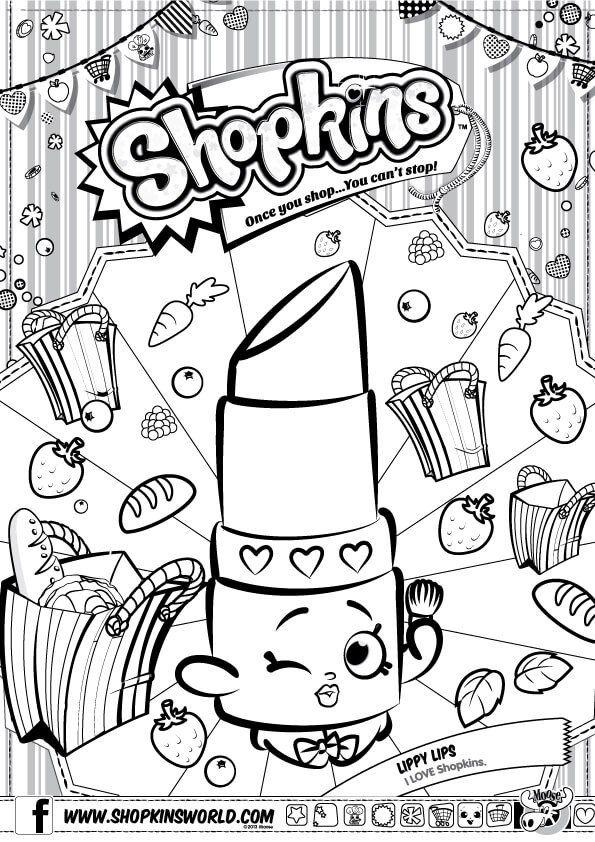 595x842 Shopkins Coloring Pages Season Lippy Lip Party