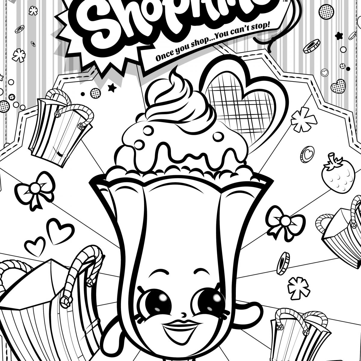 1200x1200 Cool Printable Shopkins Coloring Pages Leversetdujourfo Free