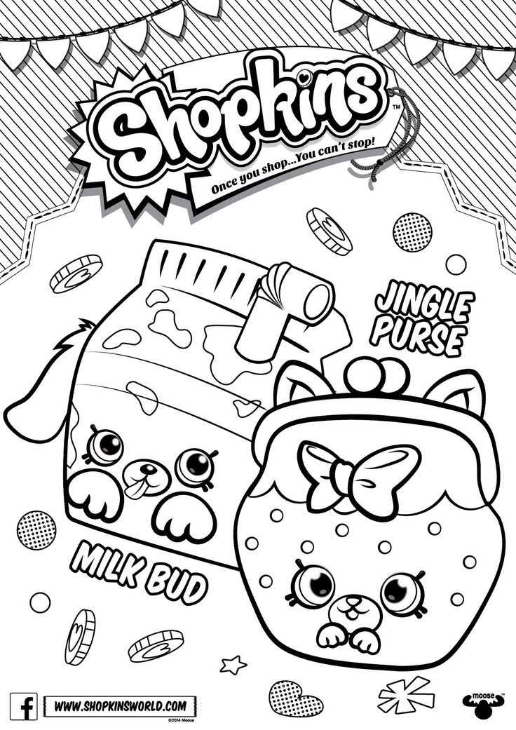 Shopkins Characters Wobbles Coloring Pages