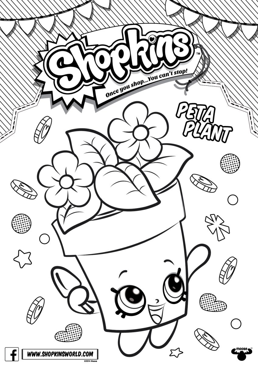 848x1199 Shopkins Characters Coloring Pages