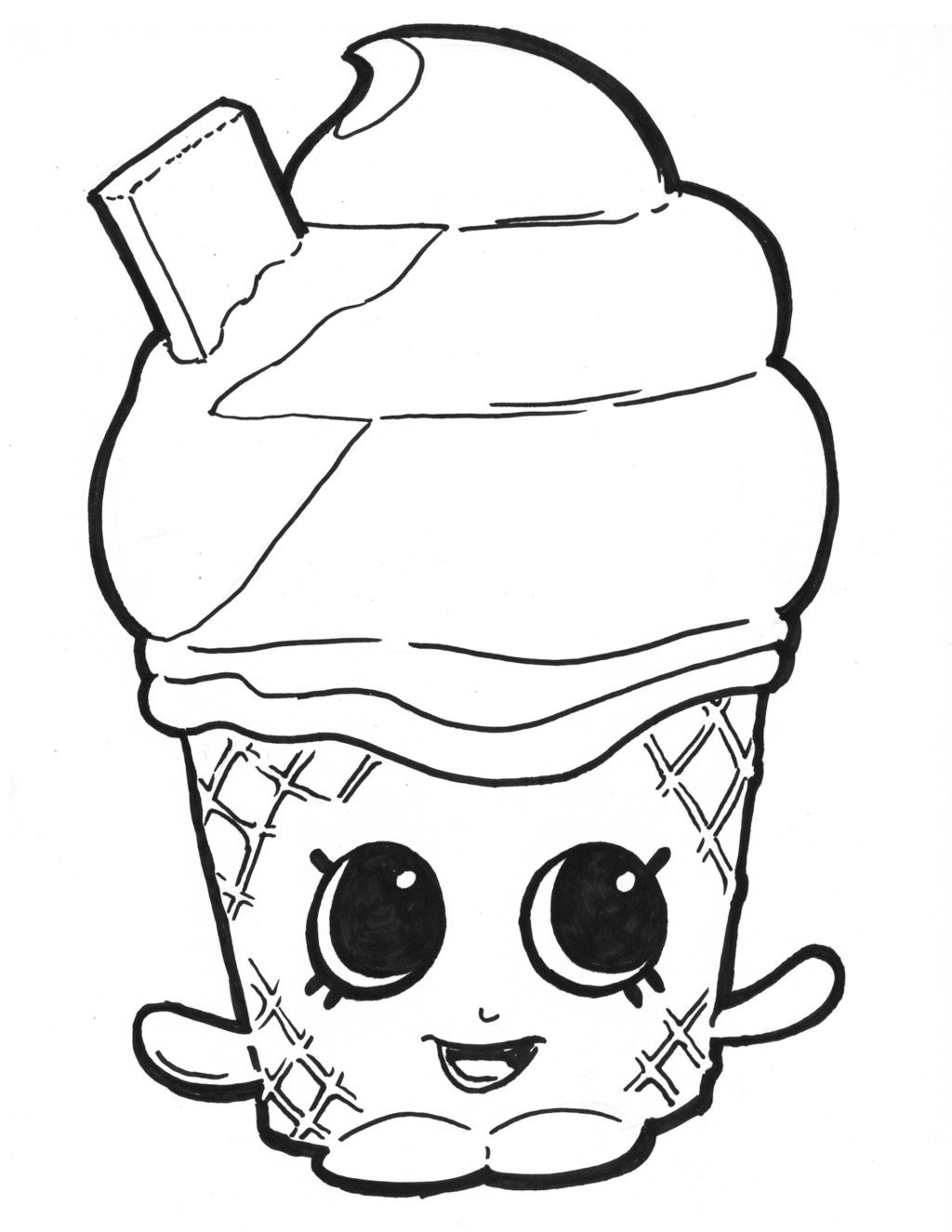 1024x1325 Shopkins Characters Wobbles Coloring Pages Free