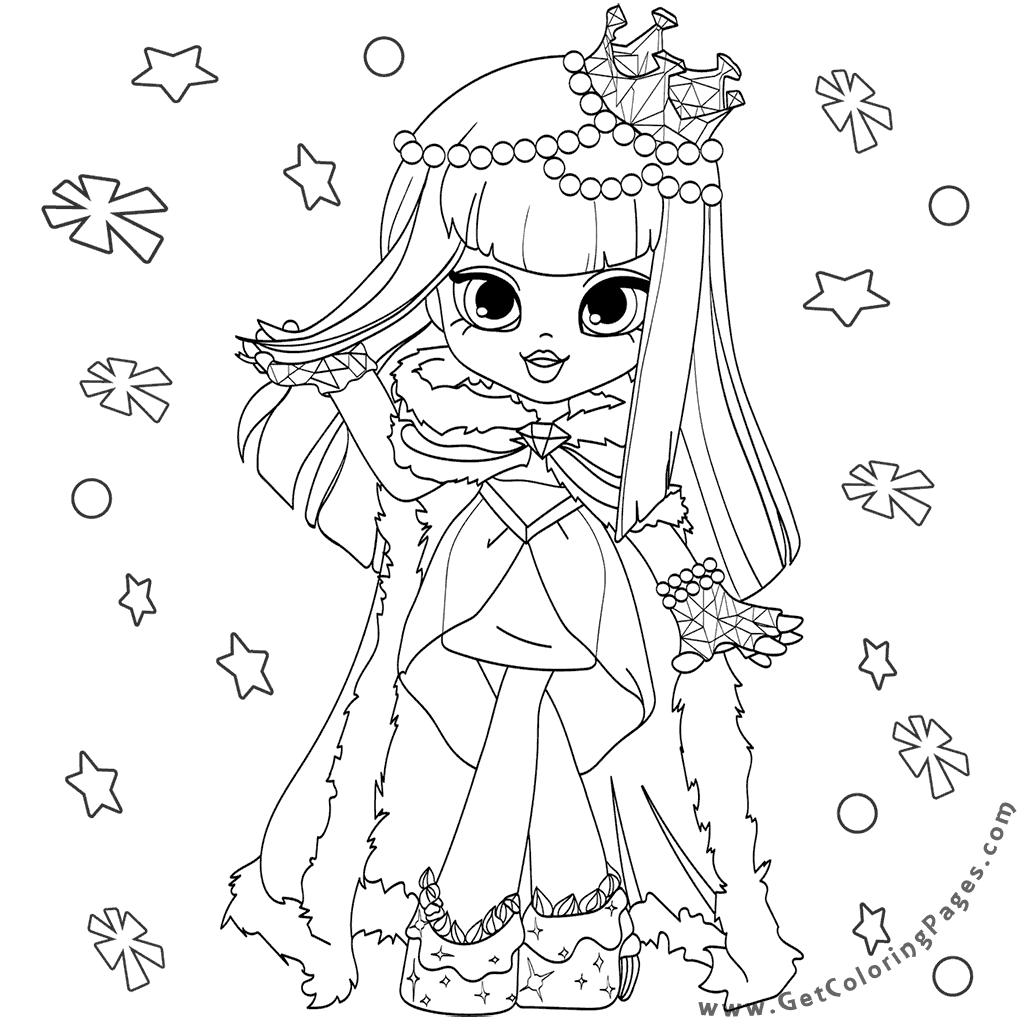 1024x1024 Christmas Shopkins Doll Coloring Pages