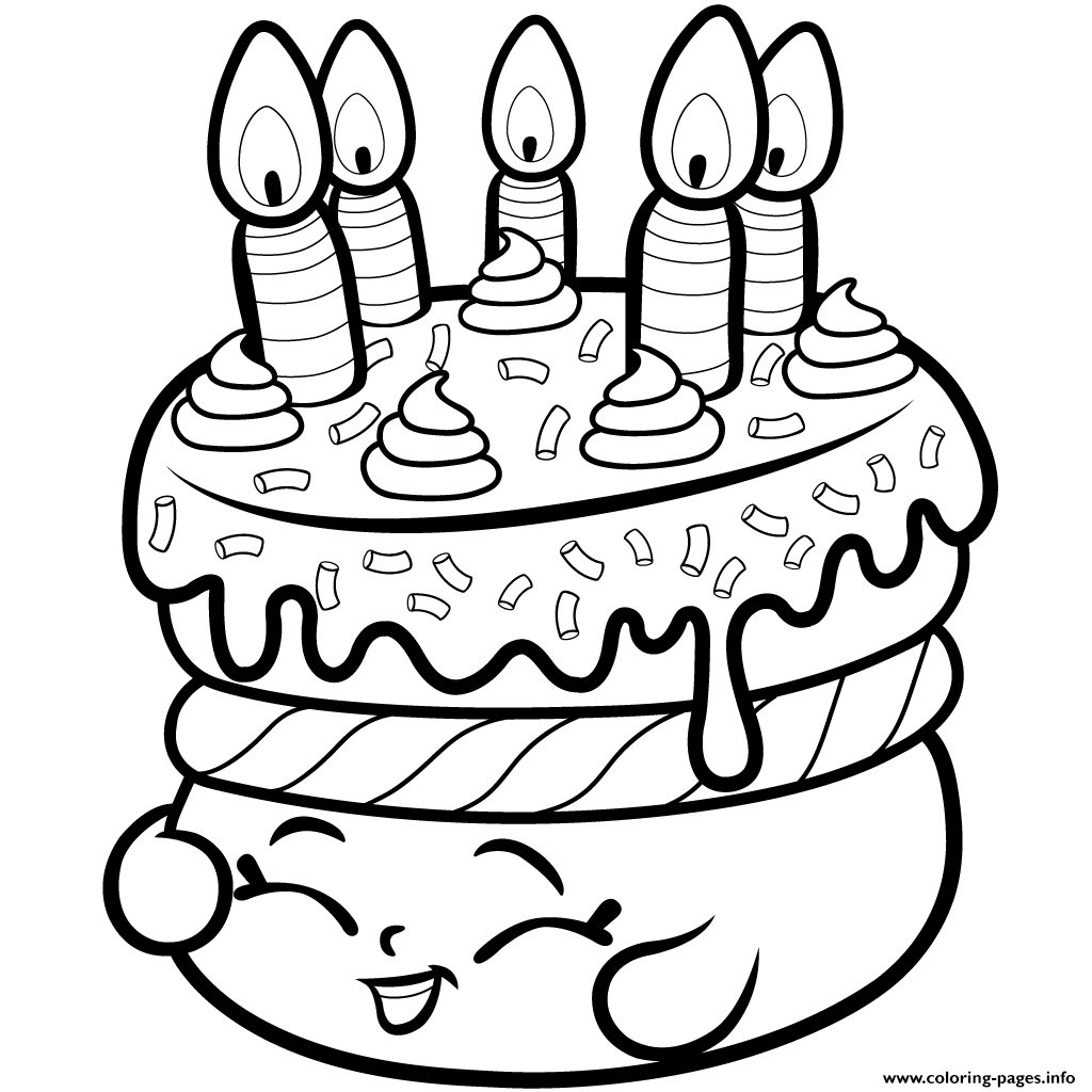 1024x1024 Print Cake Wishes Shopkins Season From Coloring Pages Shopkins