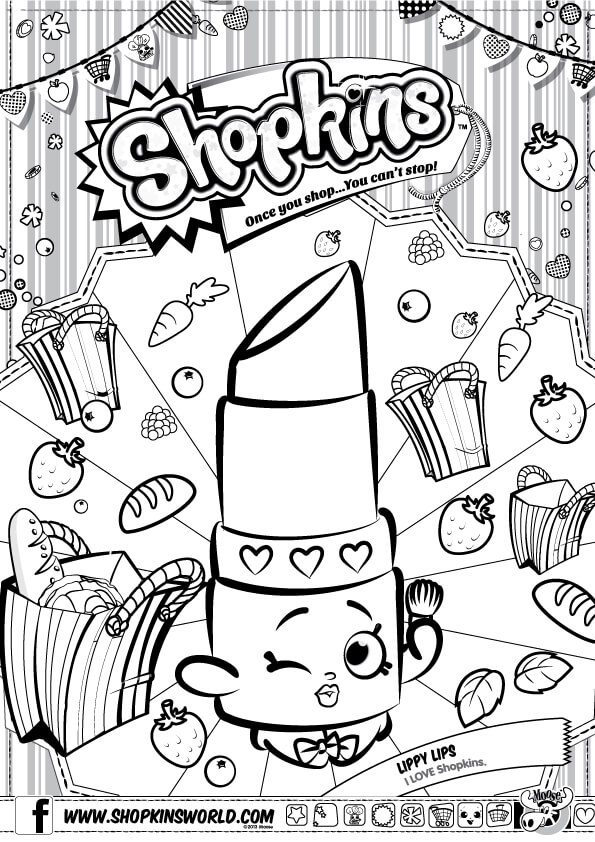 595x842 Shopkins Coloring Pages Season