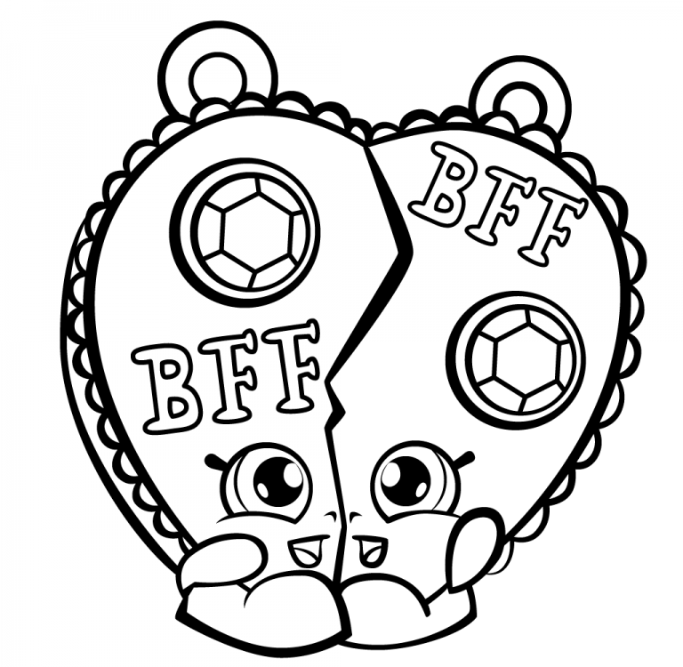 768x750 Bff Shopkins Free Coloring Page Kids, Shopkins Coloring Pages