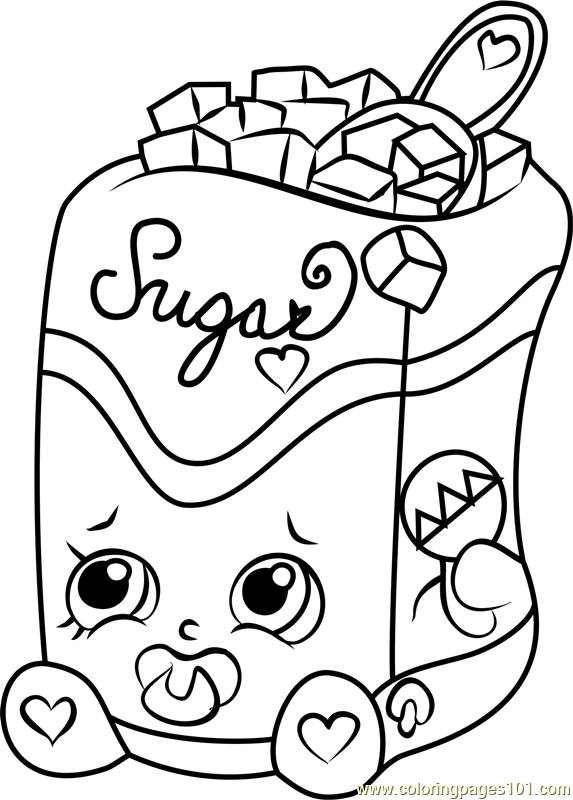 573x800 Sugar Lump Shopkins Coloring Page Coloring Pages For Kids
