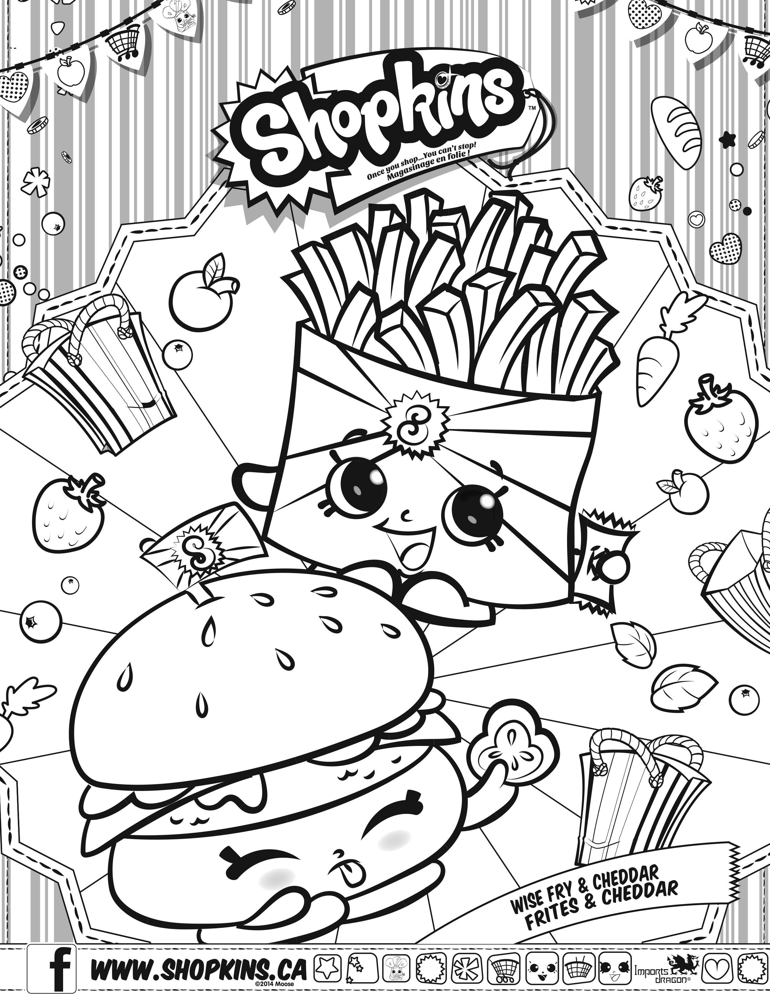 2550x3300 Shopkins Coloring Pages