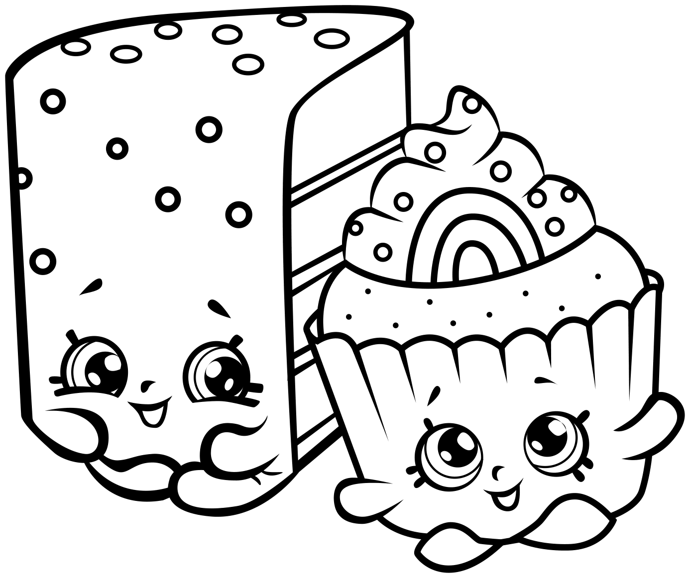 1386x1162 Cute Shopkins Coloring Page For Kids