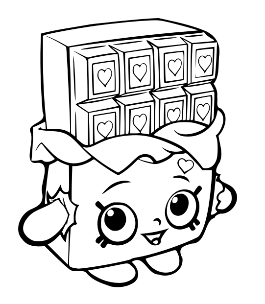 Shopkins Coloring Pages Cheeky Chocolate