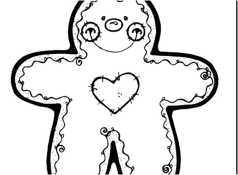 827x609 Cookie Coloring Pages Surprising Gingerbread Men Coloring Pages