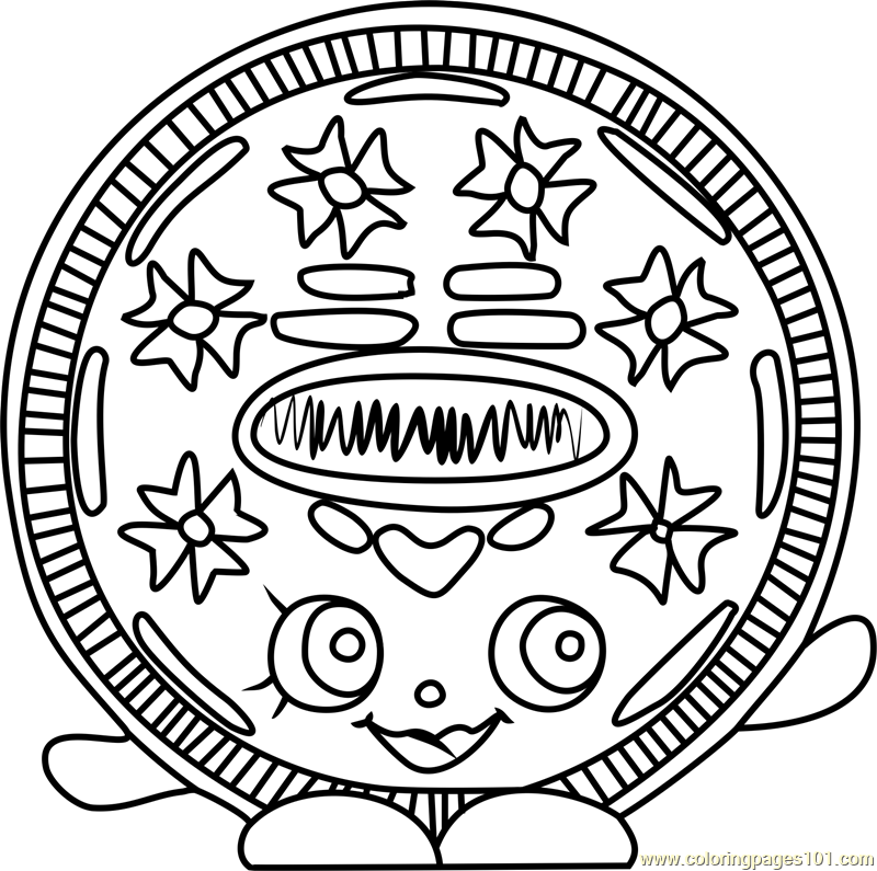 800x795 Cream E Cookie Shopkins Coloring Page