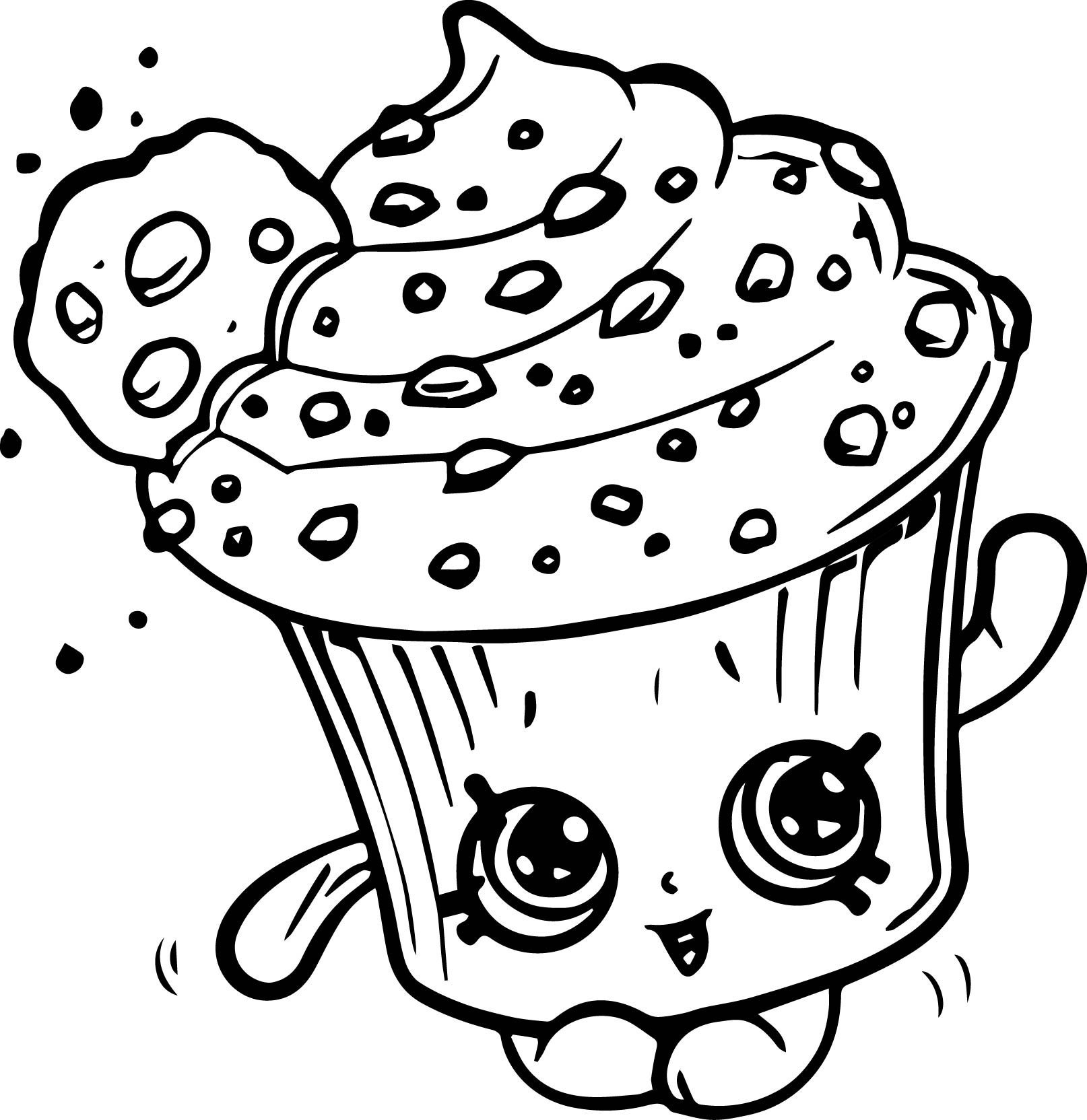 1614x1664 Creamy Cookie Cupcake Shopkins Coloring Pages Printable