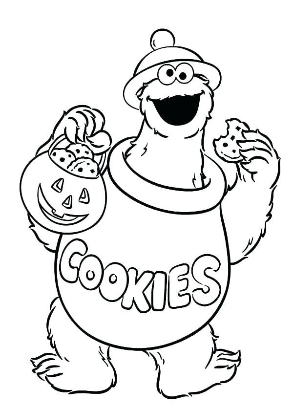 600x839 Glamorous Cookies Coloring Pages Monster Color Pages Monster