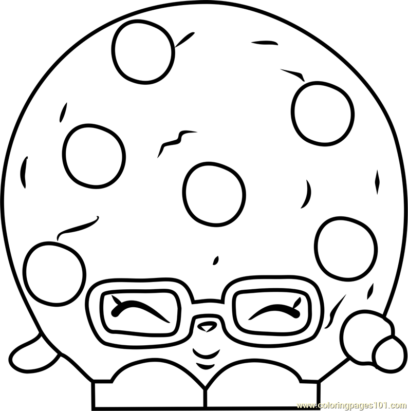 794x800 Candy Cookie Shopkins Coloring Page