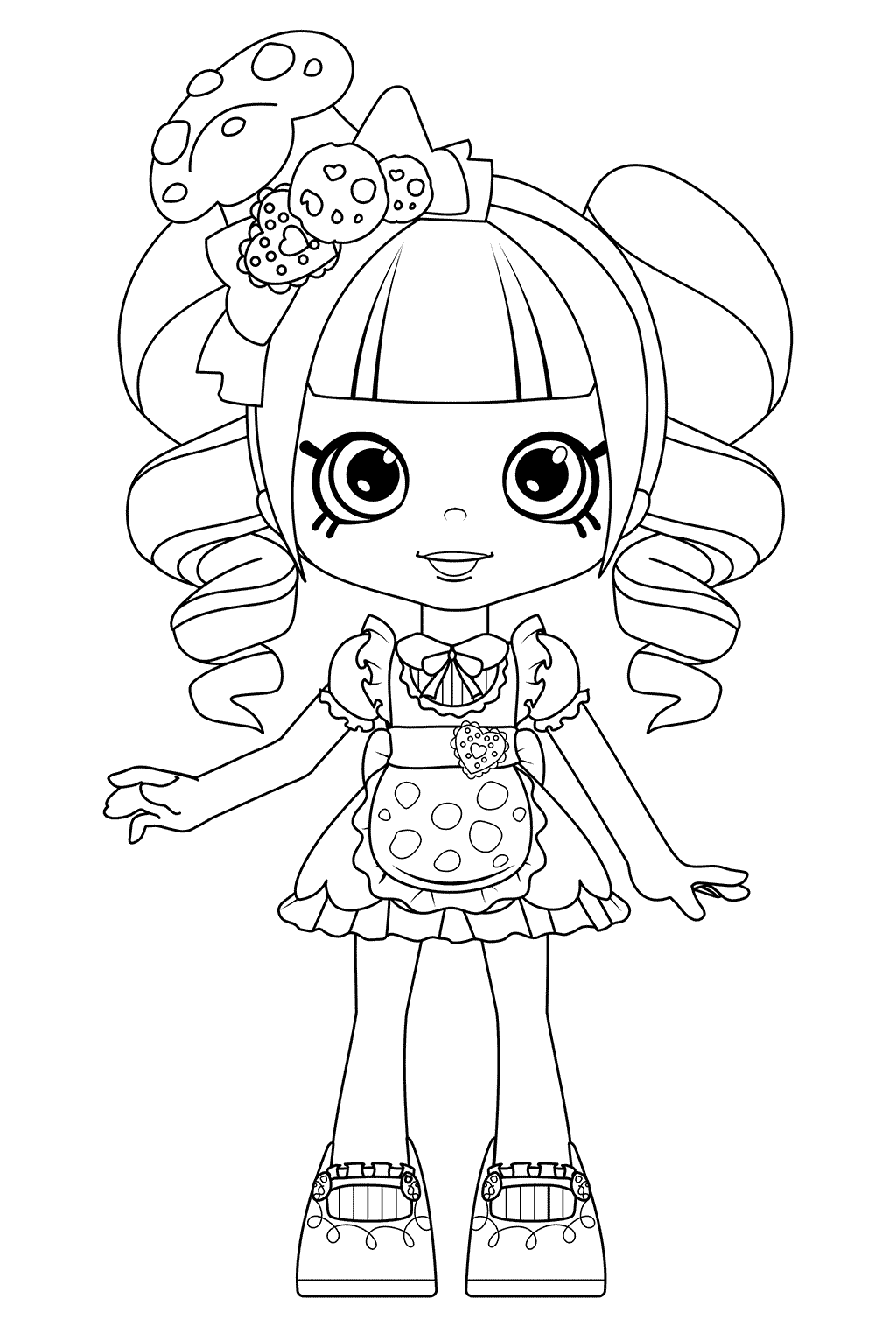 1024x1516 Coco Cookie Coloring Pages Shoppies Dolls From Shopkins