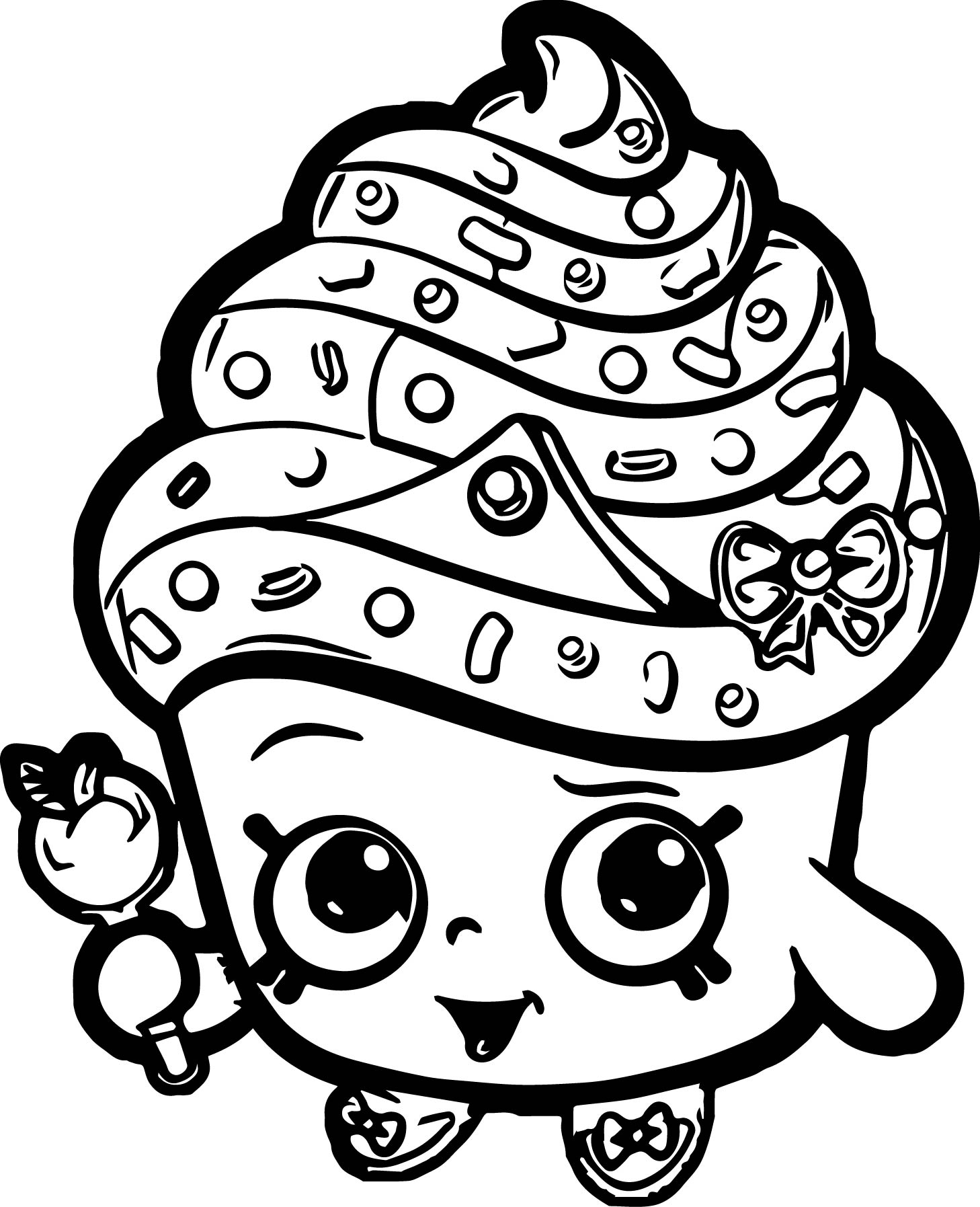 1458x1795 Cupcake Queen Shopkins Coloring Large Download