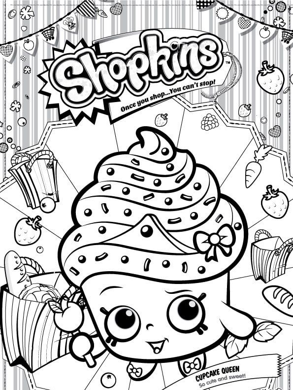 595x791 Kids N Coloring Page Shopkins Cupcake Queen Colouring