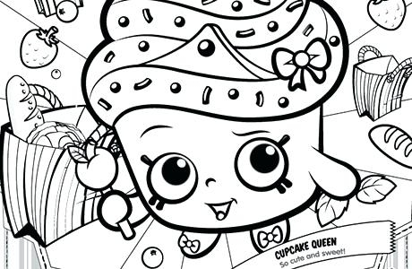 460x300 Shopkins Colouring Pages Cupcake Queen Shopkins Printables