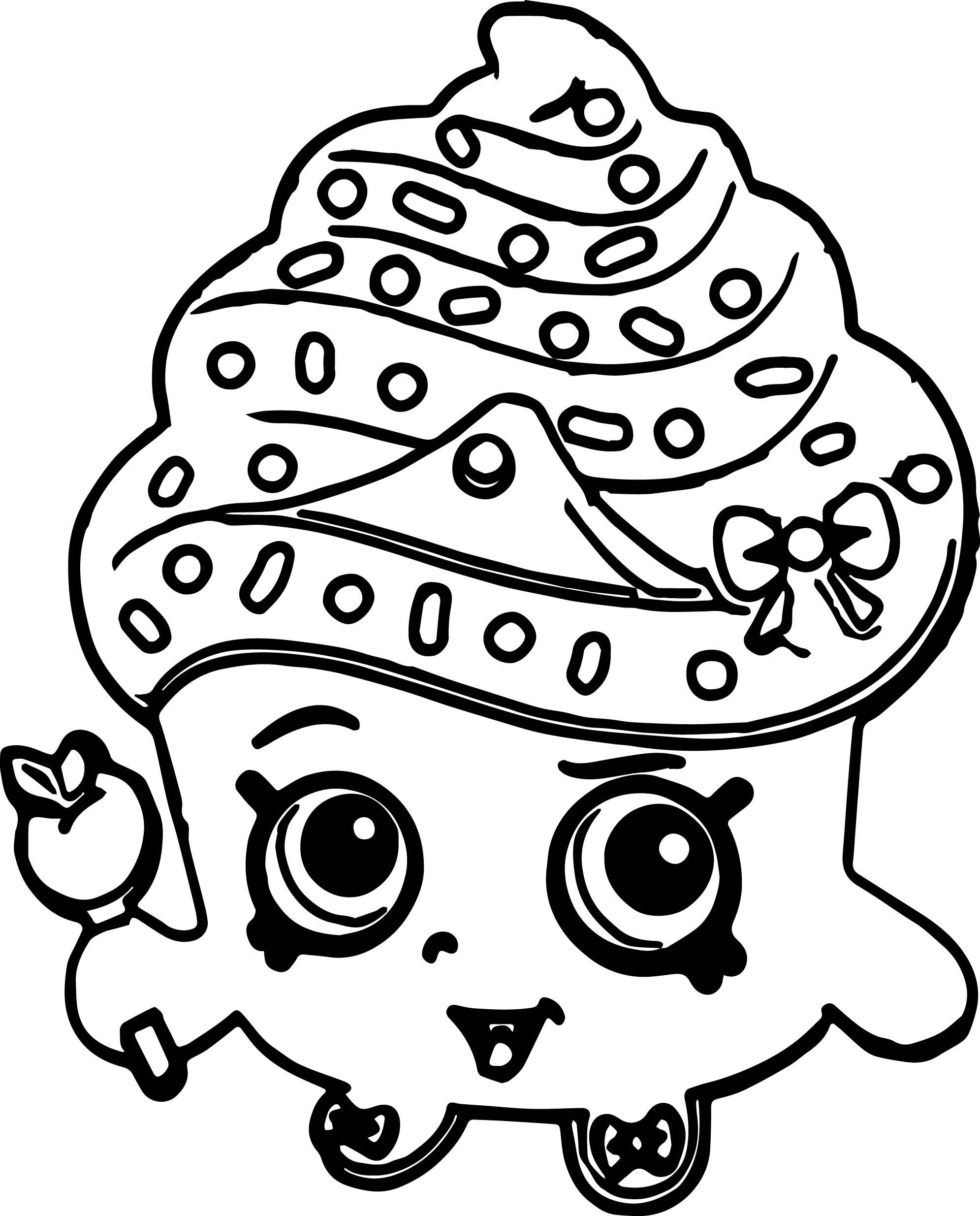 1991x2470 Shopkins Cupcake Queen Coloring Page Printable