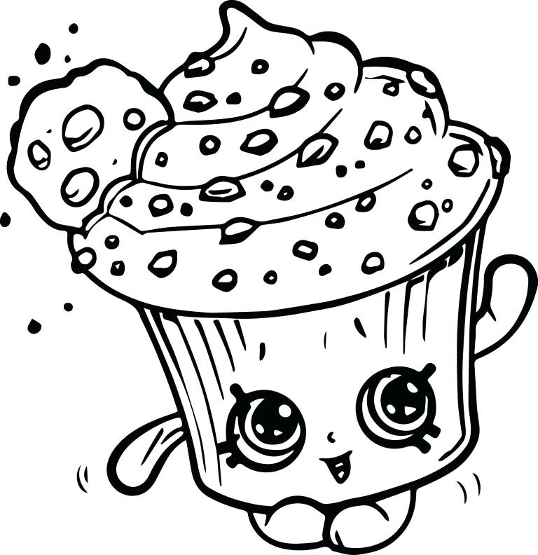 768x792 Shopkins Cupcake Queen Coloring Pages Creamy Cookie Page For Pa