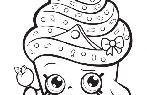 469x304 Shopkins Coloring Pages Cupcake Queen Just Colorings